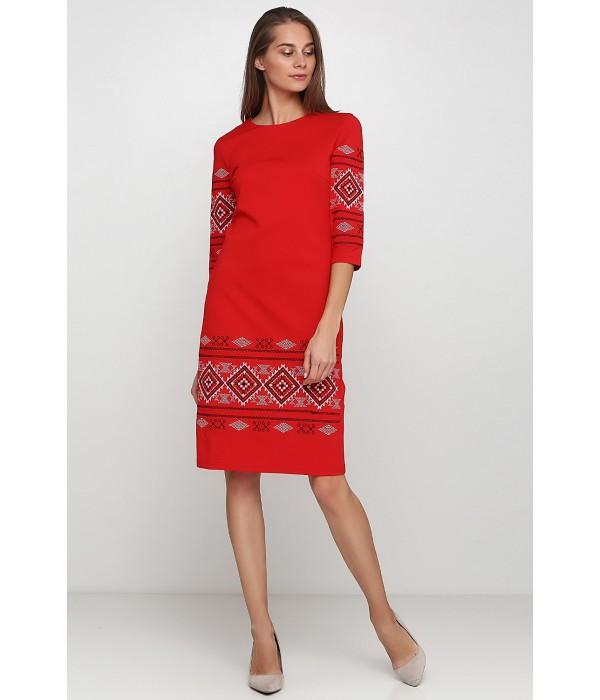 Платье вышитое женское М-1057-7, Платье вышитое женское М-1057-7 купити