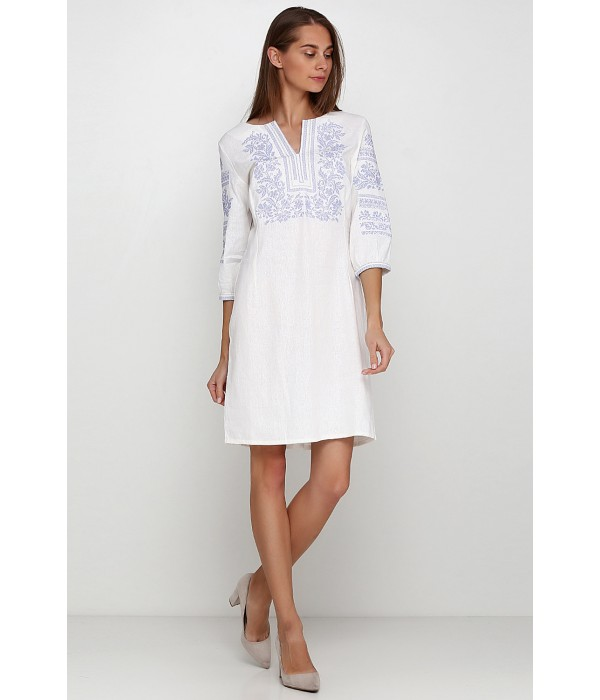 Платье вышитое женское М-1077-10, Платье вышитое женское М-1077-10 купити
