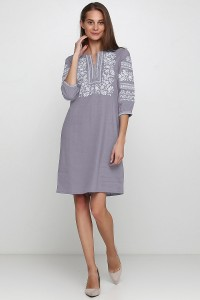 Платье вышитое женское М-1077-11
