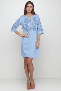 Платье вышитое женское М-1077