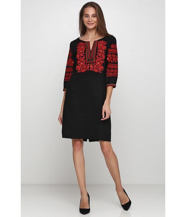 Плаття вишите жіноче М-1077-3, Плаття вишите жіноче М-1077-3 купити