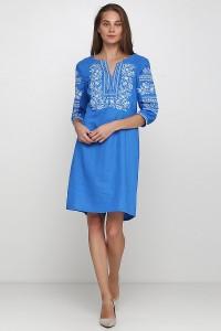 Платье вышитое женское М-1077-5