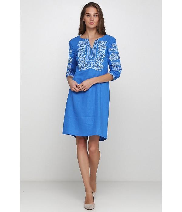 Платье вышитое женское М-1077-5, Платье вышитое женское М-1077-5 купити