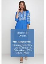 Платье вышитое женское М-1077-9