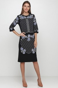 Платье вышитое женское М-1078-1