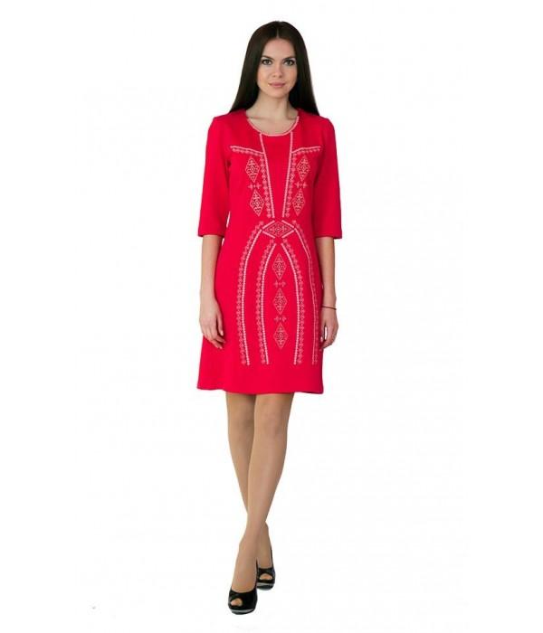 Платье вышитое крестиком М-1022-6, Платье вышитое крестиком М-1022-6 купити