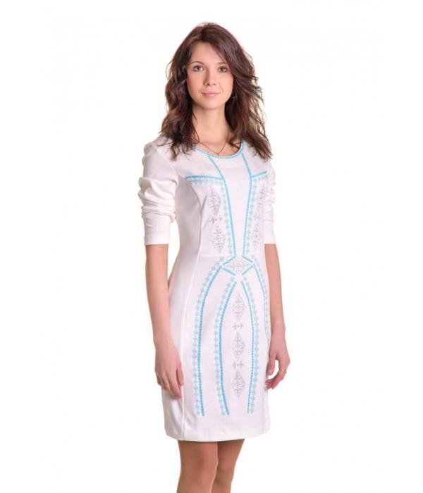 Плаття вишите хрестиком М-1022-1, Плаття вишите хрестиком М-1022-1 купити