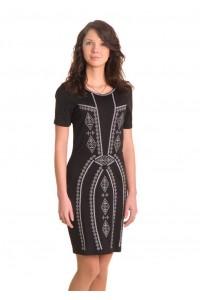 Платье вышитое крестиком М-1022