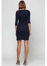 Платье вышито гладью «Маки 3D» М-1025-1