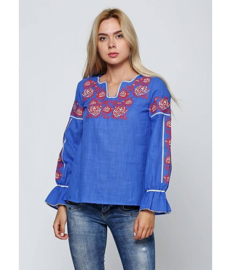 Синя жіноча вишиванка М-230-2 купити у Львові a2f552dcb4aa4