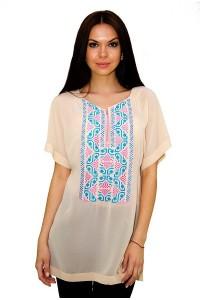 Рубашка вышитая женская М-199 (пятно)