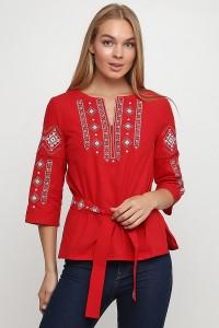 """Рубашка вышитая женская Етномодерн """"Традиция"""" M-211-2"""