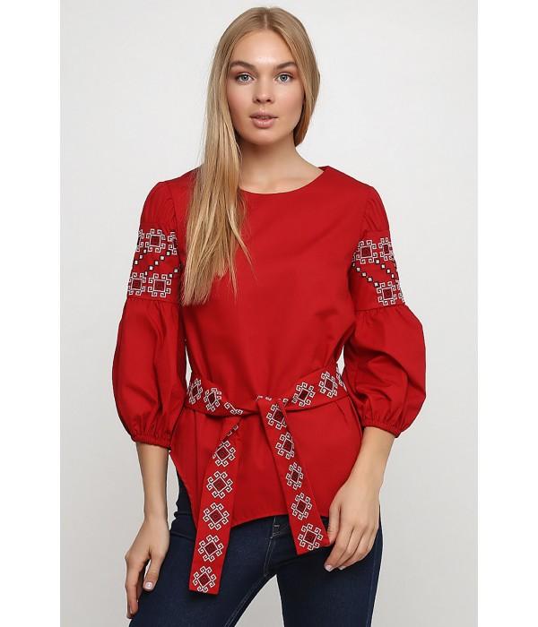 Рубашка вышитая женская Етномодерн М-218-2, Рубашка вышитая женская Етномодерн М-218-2 купити