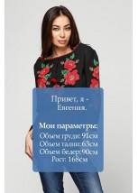 """Рубашка вышитая женская Етномодерн """"Цветочный венок"""" М-223"""
