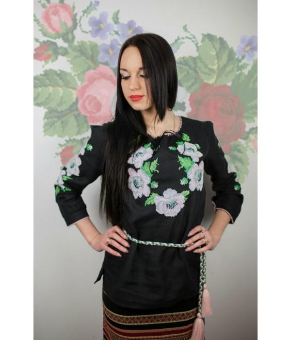 """Рубашка """"Цветочный венок"""" М-223-2, Рубашка """"Цветочный венок"""" М-223-2 купити"""