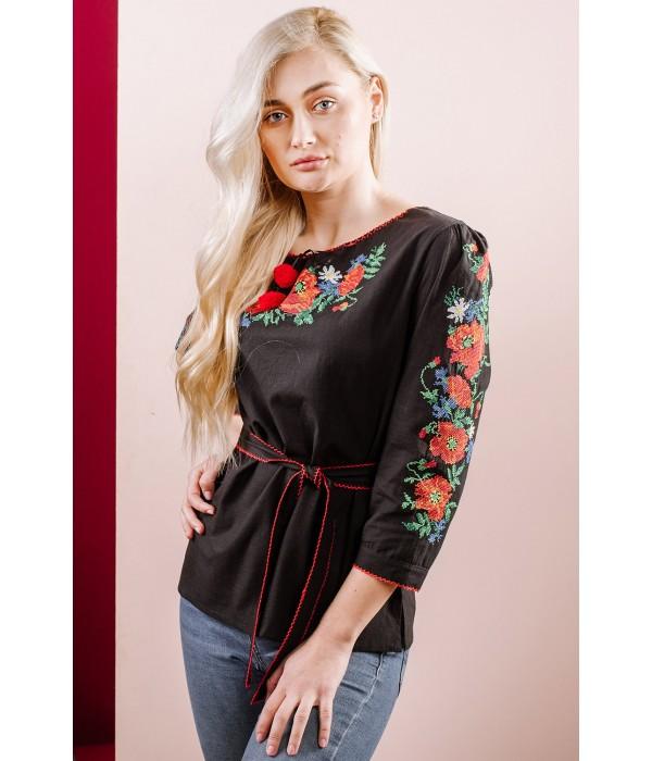 Рубашка вышитая женская Етномодерн М-224, Рубашка вышитая женская Етномодерн М-224 купити