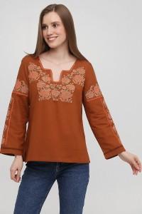 Женская вышитая рубашка  М-230-11
