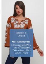 Женская вышитая рубашка  М-230-8
