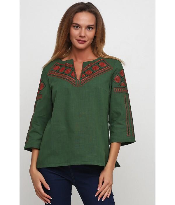 Рубашка M-232-20 Зелений (Червоний, Чорний), Рубашка M-232-20 Зелений (Червоний, Чорний) купити