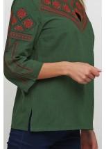 Рубашка M-232-20 Зелений (Червоний, Чорний)