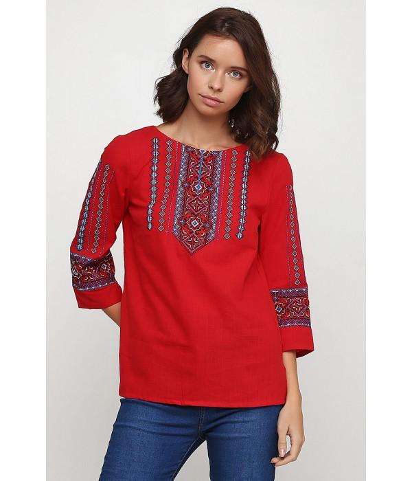 Рубашка вышитая женская Етномодерн M-234-1, Рубашка вышитая женская Етномодерн M-234-1 купити