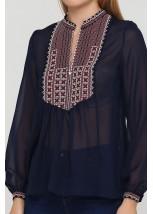 Блузка с вышивкой ЕтноМодерн M-236-2