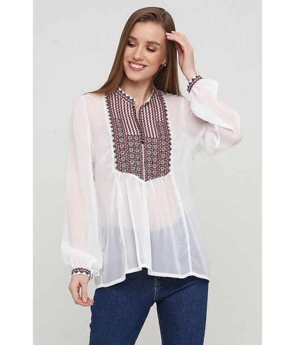 Блузка с вышивкой ЕтноМодерн M-236-6, Блузка с вышивкой ЕтноМодерн M-236-6 купити