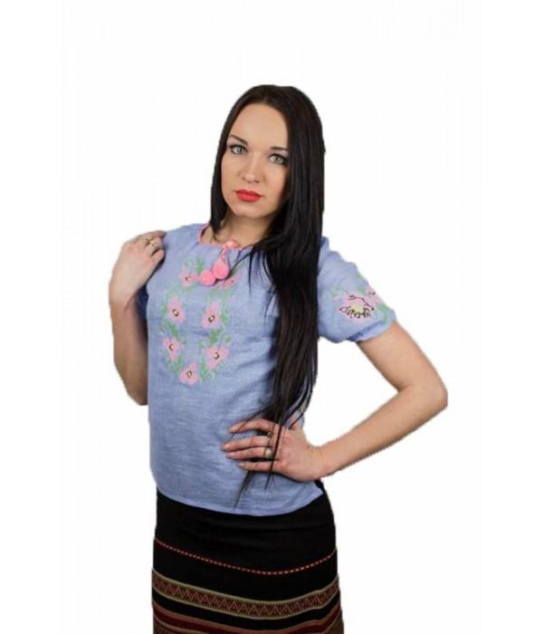 """Рубашка """"Маковый веночек"""" М-219-2, Рубашка """"Маковый веночек"""" М-219-2 купити"""