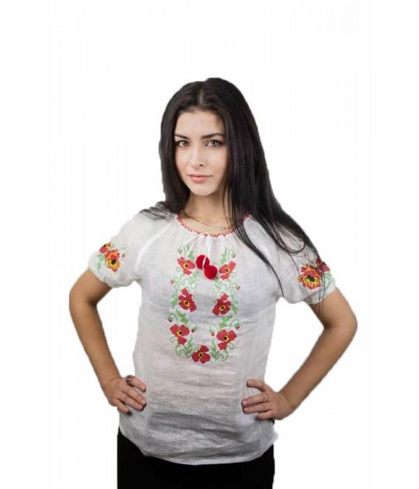 """Рубашка """"Маковый веночек"""" М-219-1, Рубашка """"Маковый веночек"""" М-219-1 купити"""