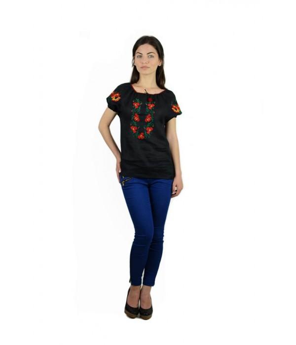 """Рубашка """"Маковый веночек"""" М-219-7, Рубашка """"Маковый веночек"""" М-219-7 купити"""