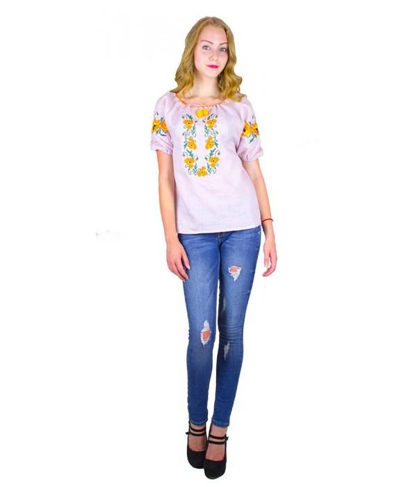 """Рубашка """"Маковый веночек"""" М-219-4, Рубашка """"Маковый веночек"""" М-219-4 купити"""