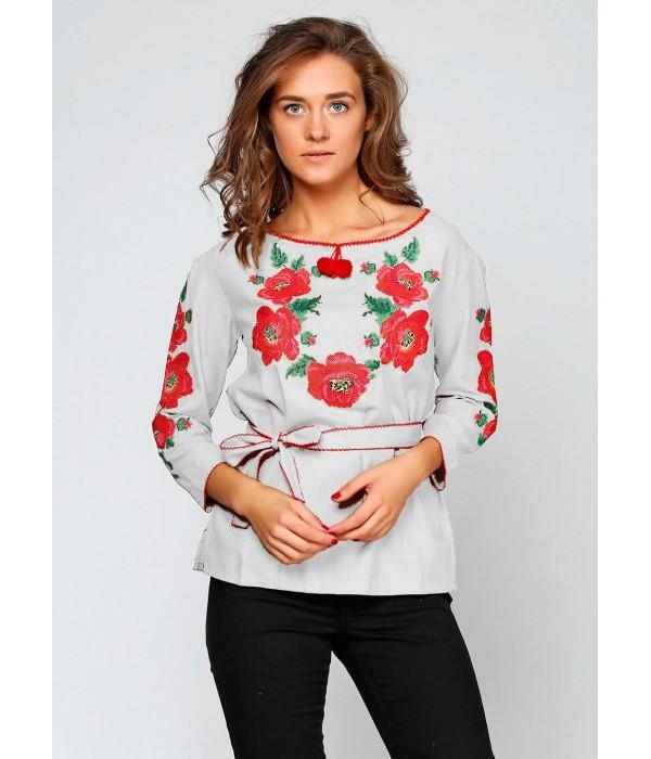 """Рубашка """"Цветочный венок"""" М-223-1, Рубашка """"Цветочный венок"""" М-223-1 купити"""